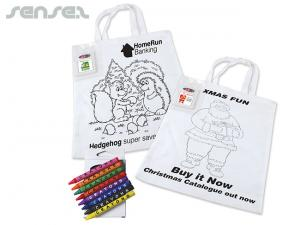 Colouring In Tote Bags with Crayons