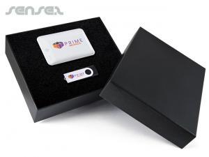 Exklusive Geschenk-Set-Boxen mit Photon Power Bank und Swivel Flash Drive