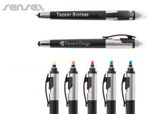 Multifunktionale Kugelschreiber mit Touchscreenstift und Highlight Marker