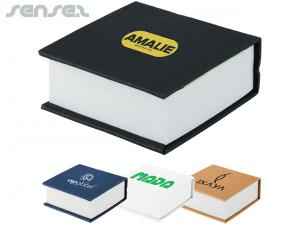 Hard Cover Memo Stacks with Sticky Flags