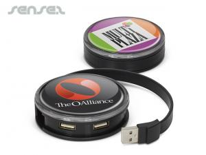Circular USB  2.0 Hubs With 4 x Ports