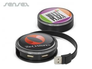 Kreisfoermige USB 2.0 Hubs mit vier Ports