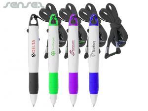 2 Farbe Mehrfache Tintenstifte mit Lanyard