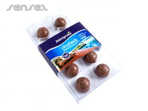 Süße Milch Schokoladekugeln in Boxen