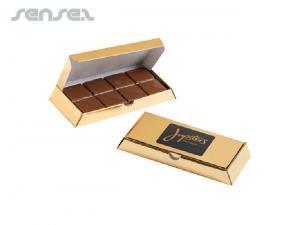 Noble Goldbarren mit Milchschokolade