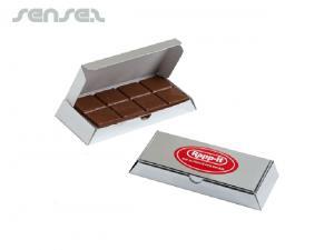 Unique Silberbarren mit Milchschokolade