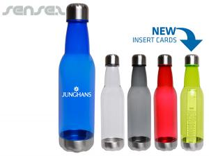 Stainless Steel and AS Plastic Long Neck Drink Bottles (700ml)