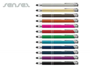 Aluminum Stylus Pens With Shiny Chrome Accents
