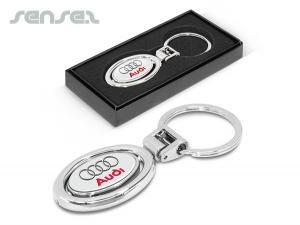 Spinning Oval Metal Key Rings