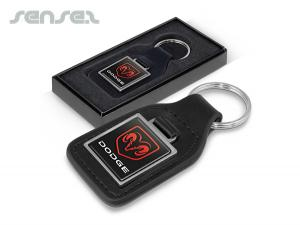 Leather Key Rings Square