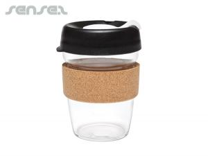 Reusable Glass Cups With Cork Band (340ml)