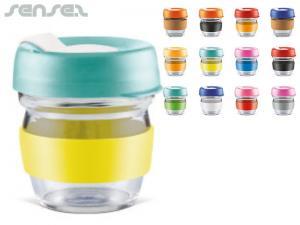 Colour Mix Glass Keep Cups (225ml)