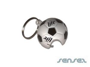 Soccer-Shaped Bottle Opener Key Chains