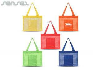Striped Tote Bags With Pocket
