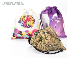Full Colour Polyester Drawstring Bags (Small)