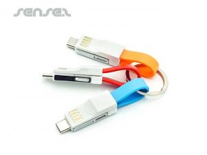 USB Charging Cable Keyrings