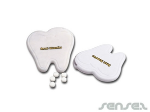Tooth Shaped Mint Cards