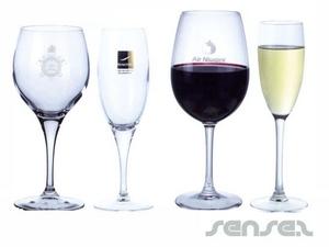 Wein oder Champagner Trinkgläser