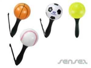 Ball Shaped Maraca Key Chains