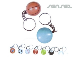 ball shaped maraca keyring
