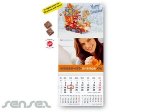 Yearly Calendar With Xmas Chocolate Calendars