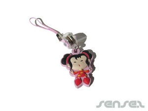 Rubber Mobile Phone Charms