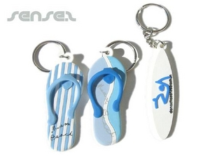 Beach Thong Or Surfboard Key Chains