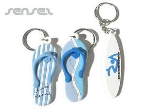 Schlüsselanhänger Flip Flops oder Surfbretter