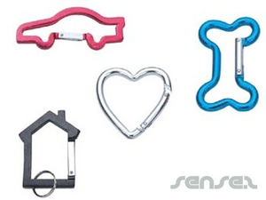 Shaped Carabiner Key Chains