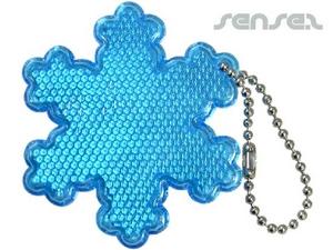 Snowflake Reflektierende Schlüsselanhänger