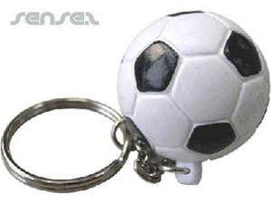 Ball Shaped Keyrings - Soccer Ball