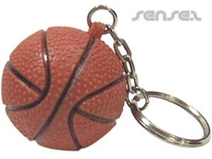 Ball Shaped Keyrings - Basketball