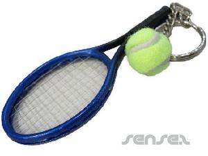tennis racket keyring