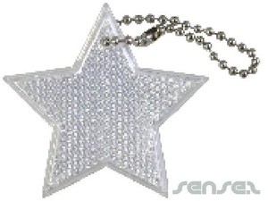 star reflective keyring