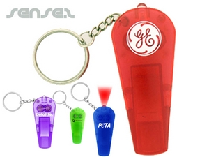 LED Torch and Whistle Key Chains