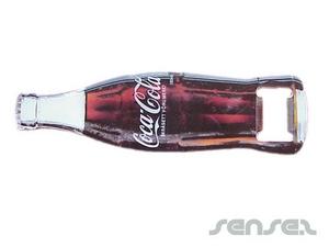 Flaschenöffner in Flaschenform
