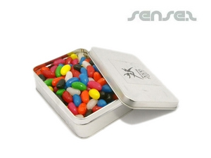 Jelly Beans in Small Rectangular Tins