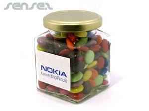Chocolates - Smarties Style In Glass Jar