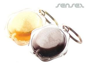 Liquid Filled Keyrings - Beer Or Cola