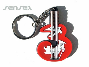 Rubber PVC Key Chains