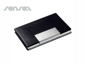 Promotional stainless leather business card holder sense2 australia business card holders reheart Choice Image