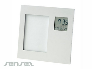 Aluminium Clock And Temperature Photo Frames