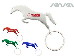 Horse Shaped Bottle Opener Key Chains