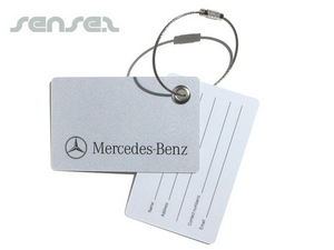 Plastic Card With Metal Wire Luggage Tags