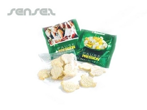 Logo Shaped Rice Crackers