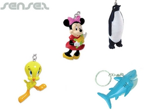 3D Plastic Molded Key Chains