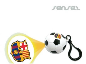 Soccer Shaped Projector Torches Key Chains