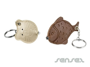 custom shaped leather keyrings or torches