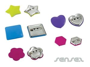 Shaped Tin Badges