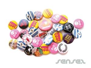 80's Retro Style Tin Badges (100mm)